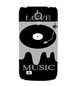 PrintVisa Music DJ Quotes 3D Hard Polycarbonate Designer Back Case Cover for Samsung Galaxy S4