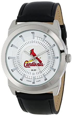 Game Time Mens MLB-VIN-STL Vintage MLB Series St. Louis Cardinals 3-Hand Analog Watch by Game Time