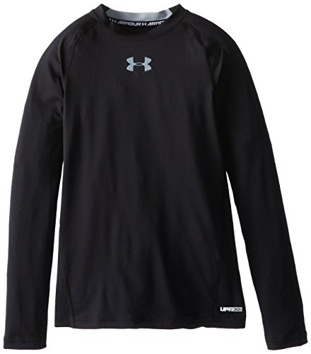 under-armour-maglia-fitness-per-bambino-manica-lunga-ragazzo-fitness-sweatshirt-nero-ylg