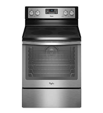 "Whirlpool WFE540H0AS 30"" Stainless Steel Electric Smoothtop Range - Convection"
