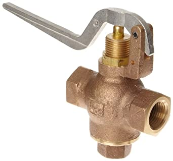 "Kingston 305B Series Brass Quick Opening Flow Control Valve, Squeeze Lever, 1/2"" NPT Female"