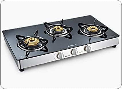Crystal Granito Gas Cooktop (3 Burner)