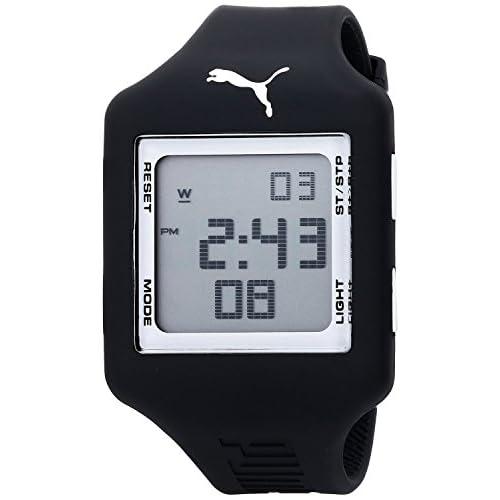 """[プーマ] PUMA 腕時計 Men's """"Slide"""" Digital Watch with Black Band クォーツ PU910791010 [バンド調節工具&高級セーム革セット]【並行輸入品】"""