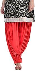 Sohniye Womens Viscose Patiala [GAKP06_Red_Free Size]