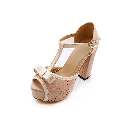 Estate dellaratura cavo piattaforma peep toe/Grezzo con tacco alto sandali-A Lunghezza piede=24.3CM(9.6Inch)