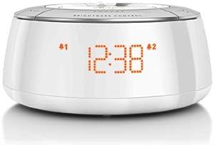 Philips AJ5000/12 Radio reloj con sintonización digital (blanco con plateado)