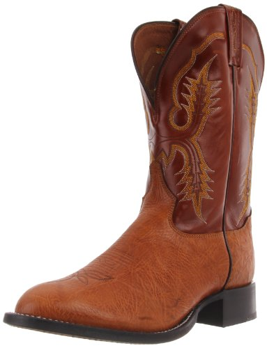 Tony Lama Boots Men's Aztec Shrunken CT2023 Boot,Aztec Shrunken Shoulder/British Tan Vegas,11.5 B US