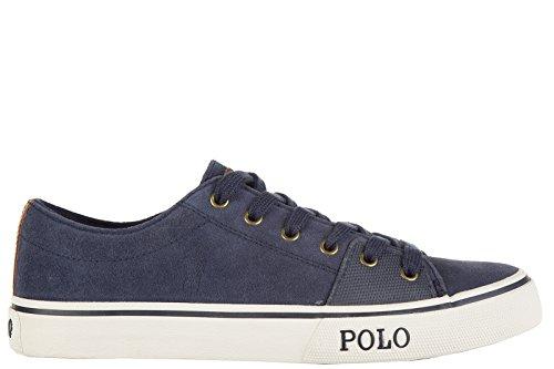 A85Y2091REDIFA413B Ralph Lauren Sneakers Homme Chamois Bleu