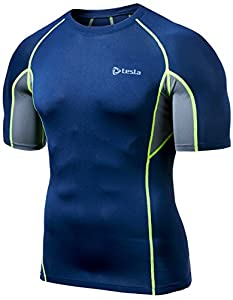 Tesla Men's Cool Mesh Compression Baselayer Short Sleeve T Shirts R14