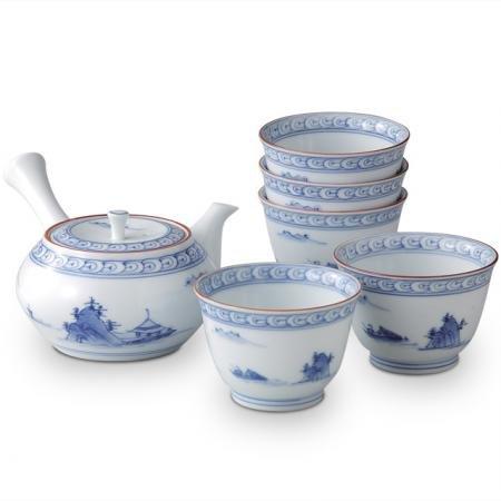 Japanese Arita ware Tea set heian(Tea Pot 1pc/Tea Cup 5pcs) Reviews