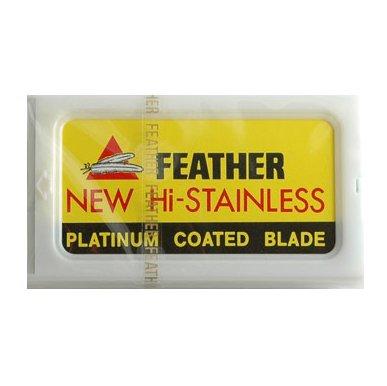 20 Feather Razor Blades NEW Hi stainless Double Edge