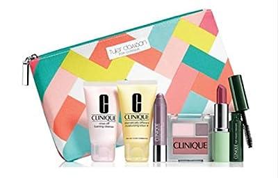 Clinique Skin Care Makeup 7 Pc Gift Set Travel Size Violets Spring 2015 Tyler Dawson Makeup Bag