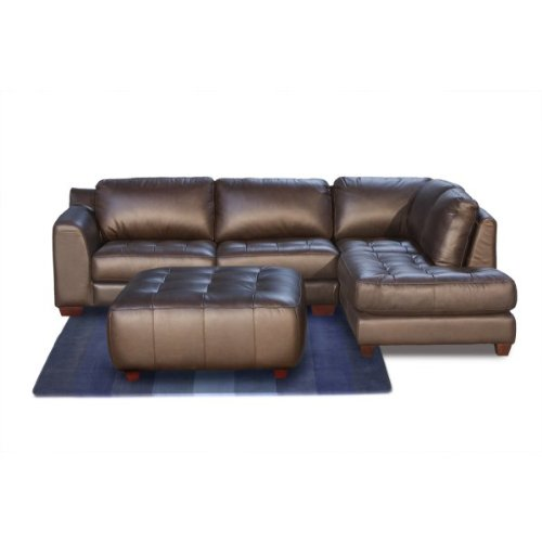 Zen Collection Right Facing Chaise 2PC Sectional with Square Cocktail Ottoman by Diamond Sofa