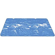 Durable Coporation Rubber Grand-Stand Beauty &amp; Barber Anti-Fatigue Mat, for Indoors, Marble Blue