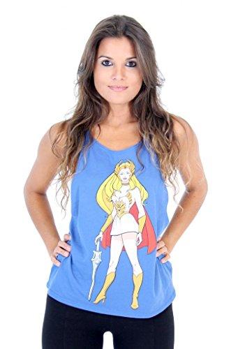 He-Man Princess She-Ra Juniors Blue Tank Top - S to XXL
