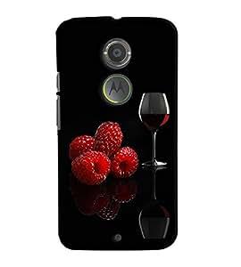 Fuson Premium Wine Printed Hard Plastic Back Case Cover for Motorola Moto X (2nd Gen)