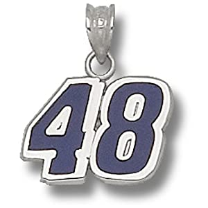LogoArt Jimmie Johnson Sterling Silver Enameled Driver Number Pendant - Jimmie... by Anderson Jewelry
