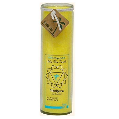 Aloha Bay Unscented Chakra Jar Protection Manipura Candle, Yellow