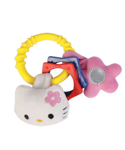 Sonajero Hello Kitty con anillas y peluche