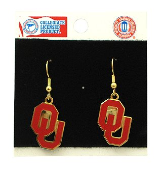 University Of Oklahoma Earrings Stainless Steel