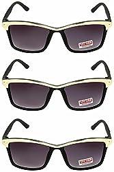 Redix Combo Traditional New Black Golden Head Sunglasses for unisex