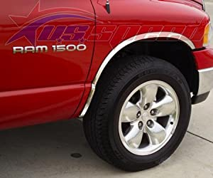 2002-2008 Dodge Ram Polished Fender Lip Trim 4PC