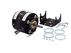 A.O. Smith RF4400 5.0-Inch 1/10 HP, Open Enclosure, CWSE Rotation, 3/8 by 2-1/2 Shaft, Sleeve Bearing General Purpose Shaded Pole Motor