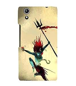EPICCASE Artistic Lord Shiva Mobile Back Case Cover For Micromax Canvas Selfie Lens Q345 (Designer Case)