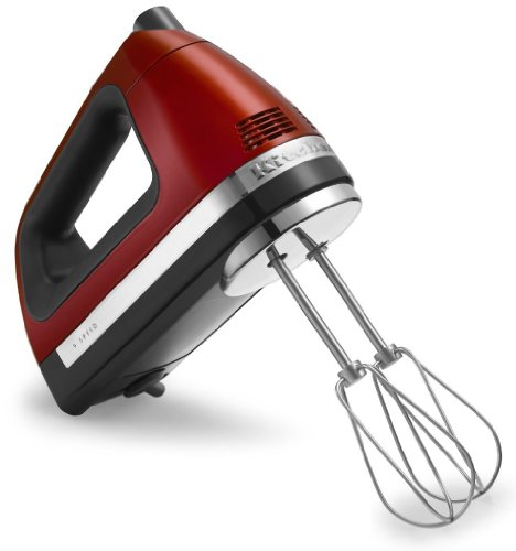 Candy apple red kitchen mixer for Kitchenaid hand mixer