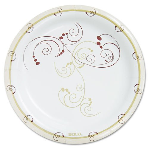 "SOLO Cup Company - Symphony Paper Dinnerware, Heavyweight Plate, 9"", Tan, 125/Pack HP9S-J8001PK (DMi PK"