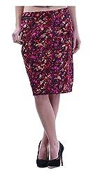 MERCH21 Women's Regular Fit Skirt (MERCH-390-MULTICOLOR, Multi-Coloured, M)