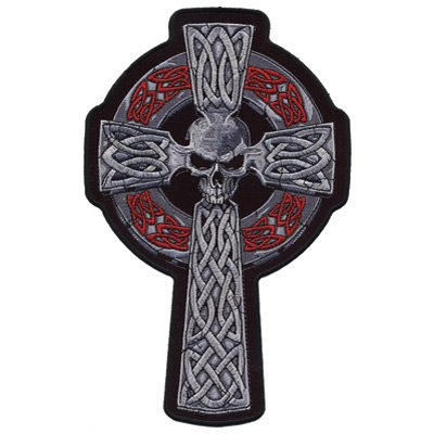 Hot Leathers Embroidered Patch - Celtic Cross 5