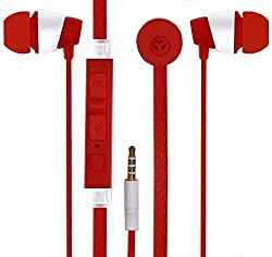 JIYANSHI stylish earphone red Compatible with Samsung Galaxy J1 Ace