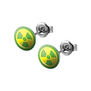 The Incredible Hulk Radioactive Atomic Bomb Stud Earrings - Pair
