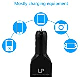 LP® 36W 7.2A Rapid USB Car Charger 3-Port In Car Charger With CI Power Technology (Smart Charging) for Iphone6, Iphone6 Plus Iphone6s Iphone6s Plus, Iphone5, Ipad Air, Samsung Galaxy Note4 and External Battery Charger and Many other USB-Powered Mobile Devices - Black