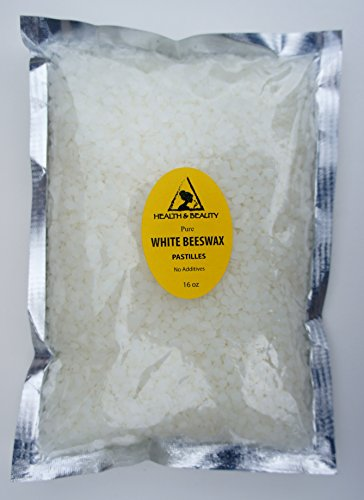 White Beeswax Bees Wax Organic Pastilles Beards Premium Prime Grade A 100% Pure 16 oz, 1 LB