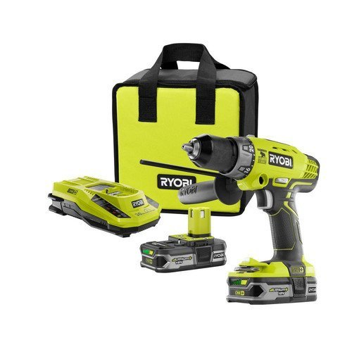 Factory Reconditioned Ryobi ZRP1812 18-Volt ONE+ Lithium-Ion Cordless Hammer Drill/Driver Kit (1 2 Hammer Drill Reconditioned compare prices)