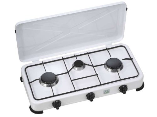 Gas-Kochplatte mit Deckel, Gaskocher,