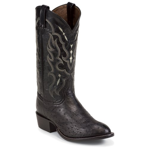 Tony Lama Men's Smooth Ostrich Western Boot Round Toe