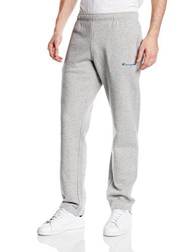 Champion - Pantaloni da jogging da uomo, orlo dritto Grigio grigio M