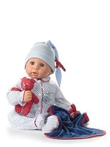 Amazon.com: Götz 1161034 Cookie Babypuppe, blauer Strampler, mit