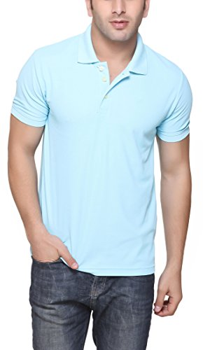 American Crew Men's Polo Collar Polyester T-Shirt