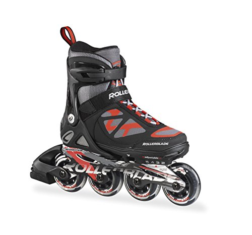 Rollerblade-2015-Spitfire-JR-LX-ALU-High-Performance-KidsYouth-Skate-BlackRed-4-Size-Push-Button-Adjustable-US-2-to-5