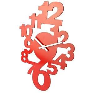 Horloge murale rouge cuisine id es de d coration et de - Horloge cuisine rouge ...