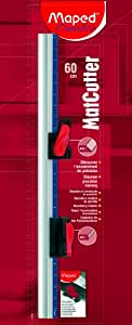 Maped MatCutter High Precision Cutting System, 45 and 90 Degree Cutter Tools, 24 Inch Ruler, Gray/Red (172600)