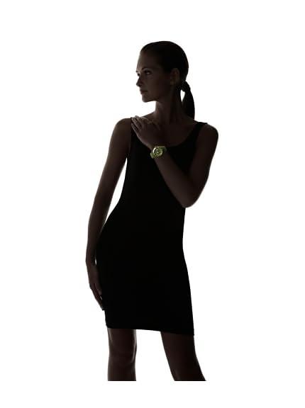 TOYWATCH Women's JTB20HG Jelly Quartz Green Dial Plastic Watch