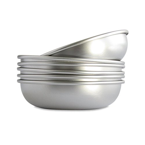 Basis Pet Low Profile Stainless Steel Cat Dish Made in the USA 6 Pack (Stainless Steel Shallow Bowl compare prices)