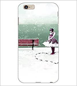 PrintDhaba Girl image D-4434 Back Case Cover for APPLE IPHONE 6 PLUS (Multi-Coloured)