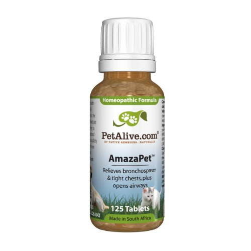 PetAlive AmazaPet 125 Tablets - Healthy Breathing for Wheezing Cats & Dogs