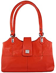 KARP Women's Vintage Casual Stylish Red PU Leather Multi Compartment Large Capacity Shoulder Handbag (HandBag...